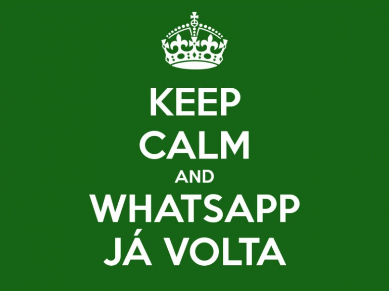 WhatsApp e o meme do Keep Calm