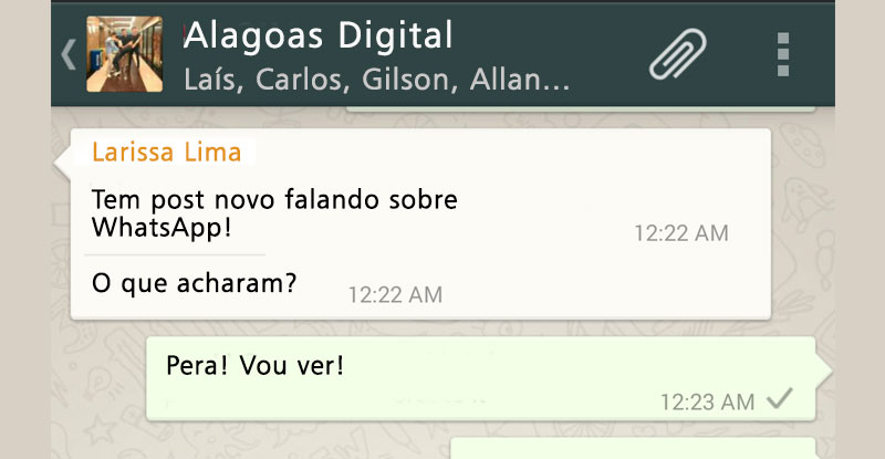 Conversa no whatsapp
