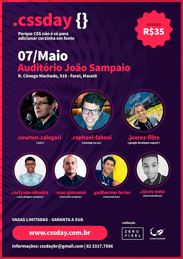 Cartaz CSSday | Alagoas Digital